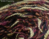 Yarn heavy worsted bulky Violet Tapestry 100 yards, purple magenta pink navy gold, knitting crochet Life's an Expedition