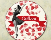 Bridal Party Personalized Pocket Mirrors, Bachelorette Party, Pin Up Girl