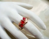 Vintage Copper ruby ring