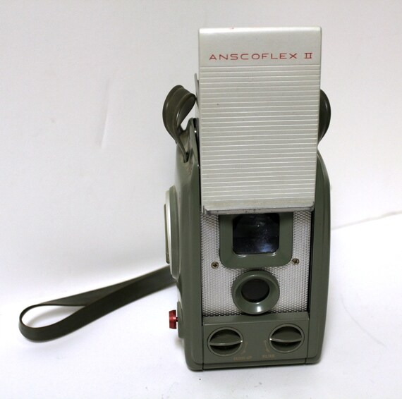 Vintage Ansco Anscoflex II Camera 1950s TLR Box