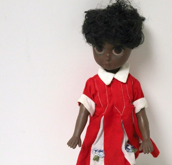 Reserved for Mimyee until 11/8 Vintage Soul Sister Susie Doll Big Sad Eye Pre Blythe Era Black Americana