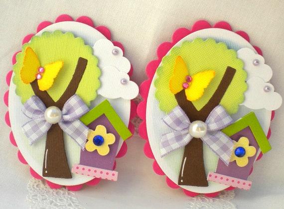SALE - Sweet Spring Embellishments-Birdhouse- Tree