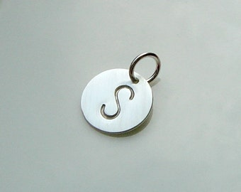 A La Carte - Sterling Initial Charm, Solid Sterling Silver, Mothers, Grandmothers, Personalized