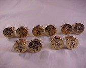 Bullet Cuff Links 5 Pair Wedding Set Gift Set Winchester 12 Gauge Shotgun Shell