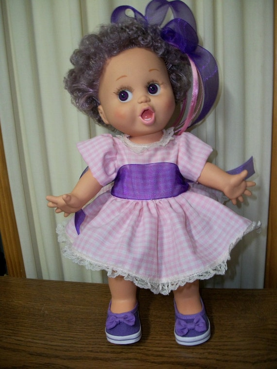 Reduced - Galoob Baby Face Number 2 Makeover - Lavender and Pink