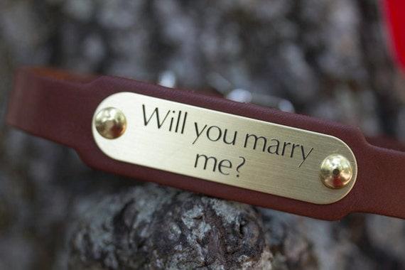 Wedding Dog, Will You Marry Me,  Bridal Dog, Engagement Dog Collar, Wedding Pet