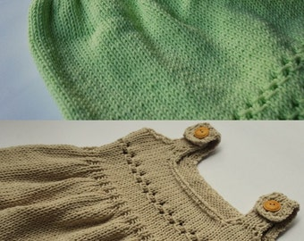 Beige or Mint Bamboo Dress 12-18 month