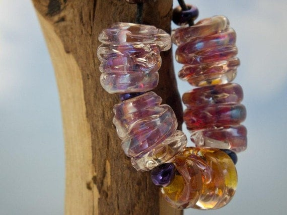lampwork double helix clio chunky spacers.... sra