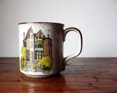 Vintage Stoneware Mug with a loverly House