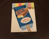 VINTAGE NOS Heath Englsh Toffee Ice Cream Bar Sticker Decal