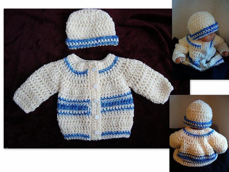 Crochet Baby Boy Hooded Sweater Pattern : CROCHET PATTERN baby sweater baby boy crochet pattern