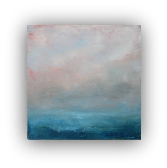 Ideas for beginners easy canvas painting ideas canvas painting ideas - Before Dawn Abstract Ocean Landscape Oil Painting On Canvas