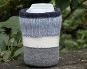 Jar Cozy - half pint size - blue stripes