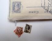 SALE  postcard zippered case
