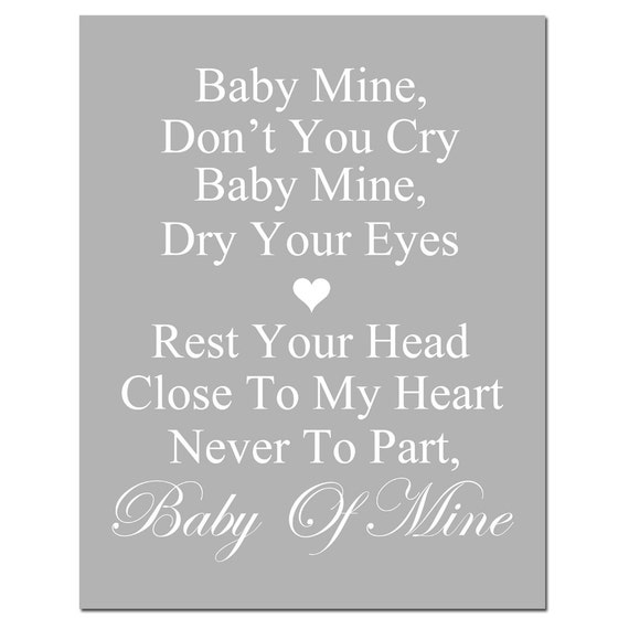 Baby Of Mine Lyrics Dumbo