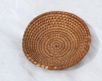 A Pair of Alsatian woven pine needle baskets
