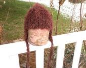 Rust Furry Bjork Hat