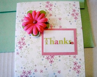 Thank You Note Cards/Set of Five