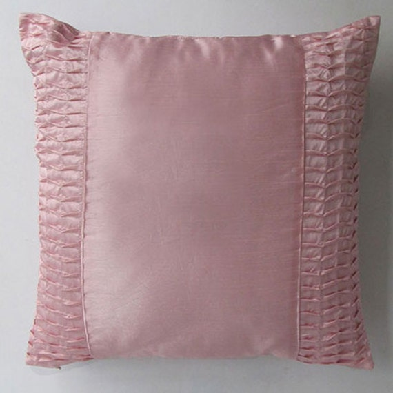 Light Pink Satin Throw Pillows : light pink decorative throw pillow and cushion cover 18 inch