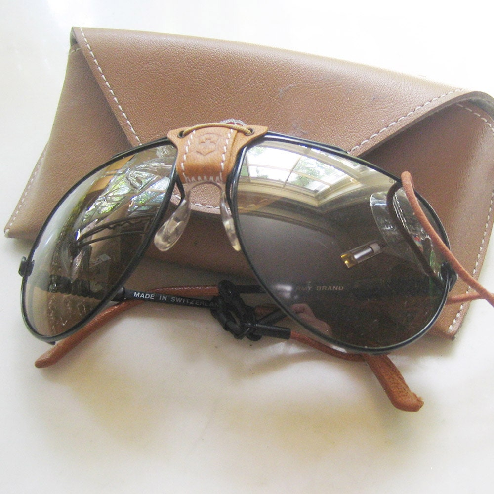 Vintage Swiss Army 4000 Sunglasses Aviator Style New And