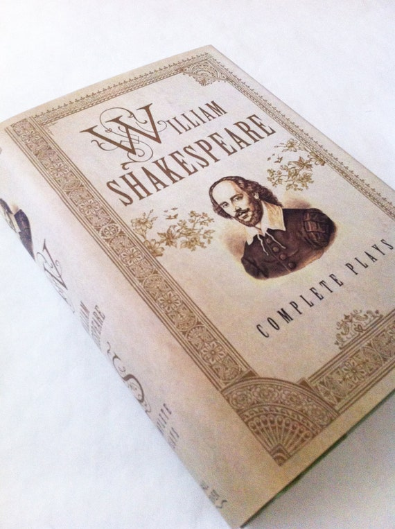Shakespeare Book Of Plays Book Purse - Your Choice of Handle - PREORDER