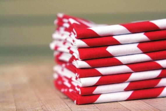 Eight modern unpaper napkins, holiday, everyday, dinner