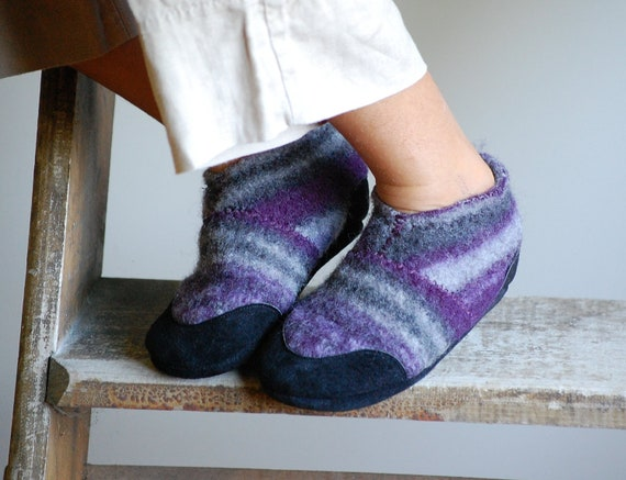 Toddler Slippers, Kids Wool Shoes, Eco Friendly, size 7.5, Make Believe, SALE
