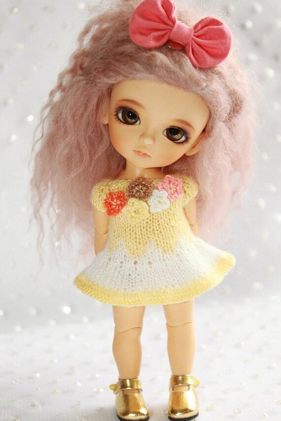 PREORDER - Lati Yellow PukiFee - Summer Garden - Mohair DRESS - Soft Yellow