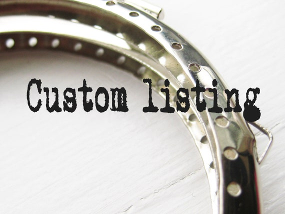 CUSTOM LISTING - reserved for Heather Bloxham only