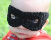 crocheted black superhero mask for infants by yourmomdesigns (rts) batman photo prop - yourmomdesigns