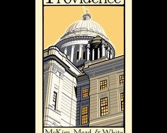 Providence - McKim, Mead, and White in Rhode Island silkscreen print