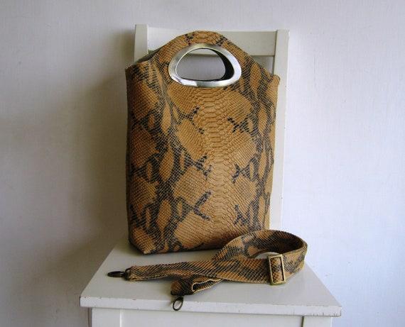 SALE - Vegan Snake Skin Handbag/ Crossbody