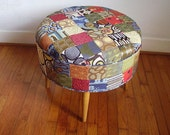 Vintage Inspired Patchwork Foot Stool/Ottoman