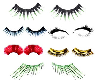 womens eyelashes clip art png lash clipart digital download graphics png images makeup beauty art commercial use