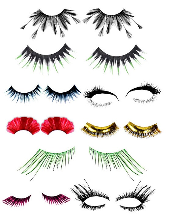 womens eyelashes clip art png digital download collage graphicsEyelashes Png
