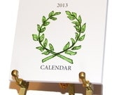 """2013 Eco-Friendly Desk Calendar on Brass Easel - """"Signature Style"""" - 30% off"""