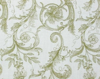 Anna Griffin for Windham, Rose, Damask in Green - 1 Yard - Clearance
