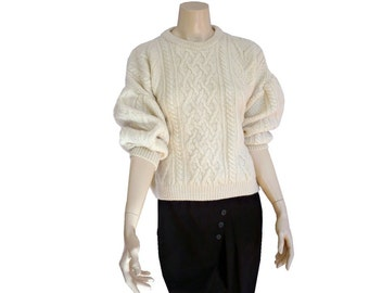 BRITISH Vintage Chuncky  Wool Knit Blouse
