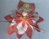 Blonde Flower Angel with Orange, Pink and White Petals