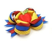 Snow White Hair Bow, Apple Bow, Boutique Bow, MTM Snow White Bow, Princess Bow, Poison Apple, Red, Yellow, Blue
