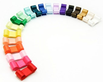 Baby Snap Clips, Mini Tuxedo Bows 20 Piece Rainbow No Slip Newborn Set Baby Shower Gift for Newborn Baby Hair Bows for fine hair