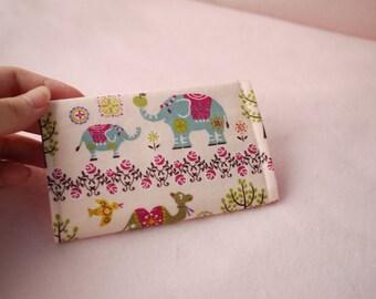 Glitter Camel and Elephant Mini Snap Wallet