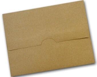 Brown Bag KRAFT  A7 BAG FLAP Envelopes 25 pack