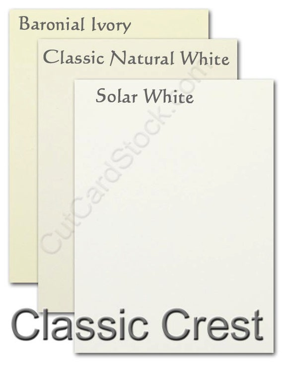Neenah Classic CREST 80lb cover weight Card Stock 8.5x11 - 50 sheets
