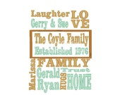 Family Subway - Typography Art Embroidery Design - 3 digital files -----DIGITIZING SERVICE-----