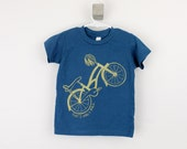 Toddler organic tshirt Bicycle That's How I Roll screen printed 2T 4T 6T