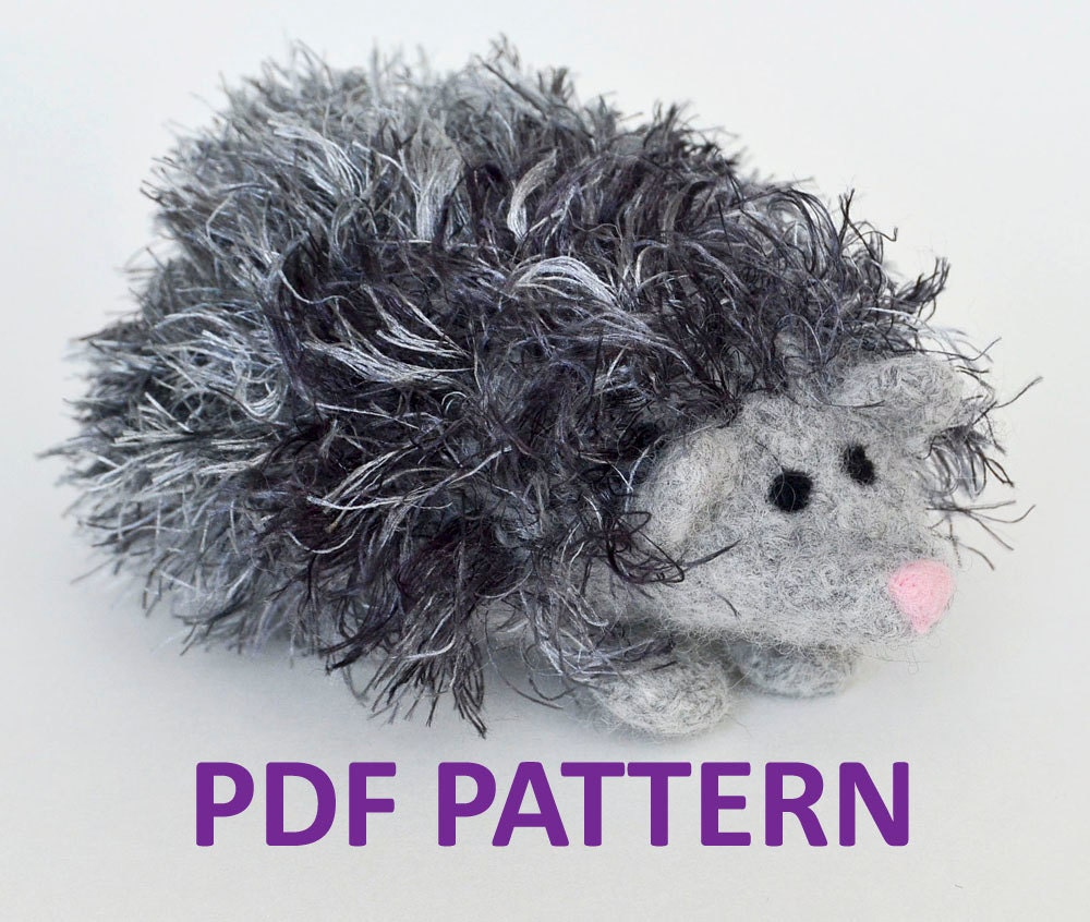 Knitting Pattern For Hedgehog : Knitting Pattern for Herbie the Hedgehog