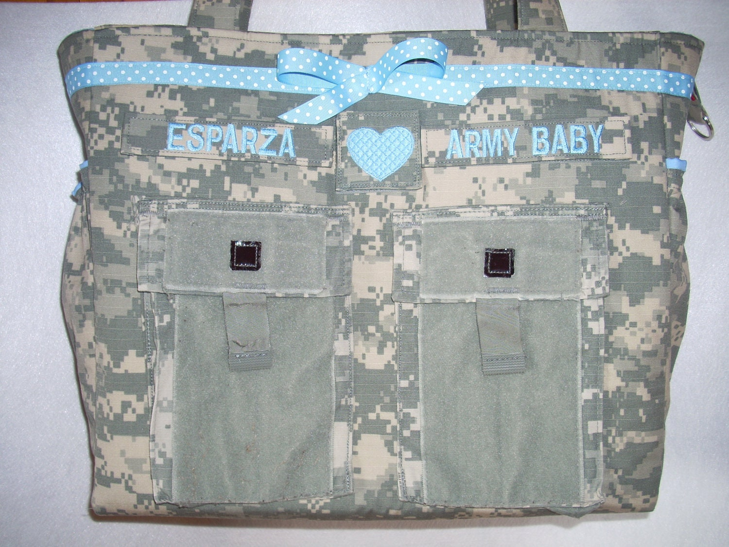 ACU Diaper Bag Army Baby personalized custom by bythebayoriginals