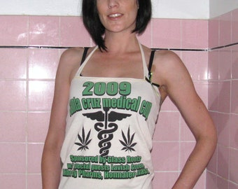 Green y Beige Santa Cruz Medical Cup Upcycled/recycled halter top