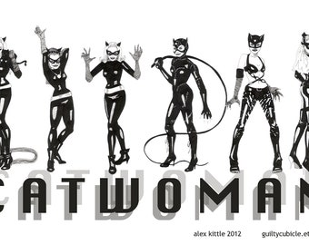 Catwoman's Many Guises Art Print